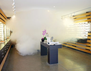 FlashFog protects eyeglass store